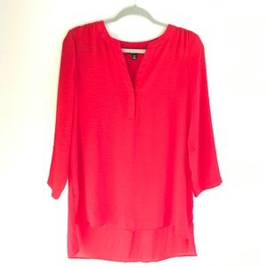 a.n.a. Red 3/4 Sleeve Blouse